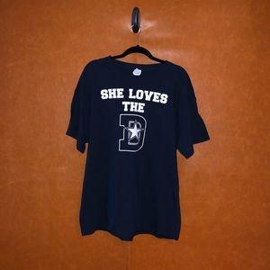 Dallas Cowboy -Dark blue tee shirt